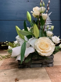 Christmas Wooden Box Arrangement