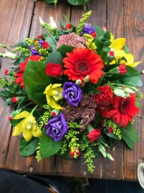 Red and Yellow Loose Posy