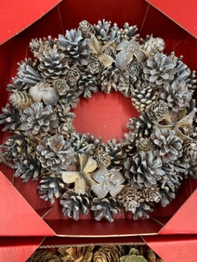 Silver Sparkle Artificial Wreath